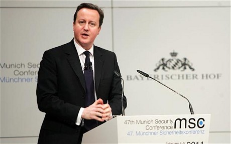 David Cameron in Munich (AP)