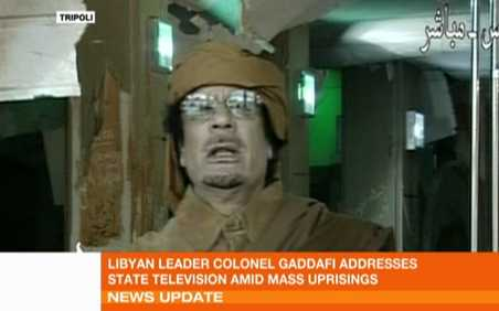 Muammar Gaddafi on Tuesday