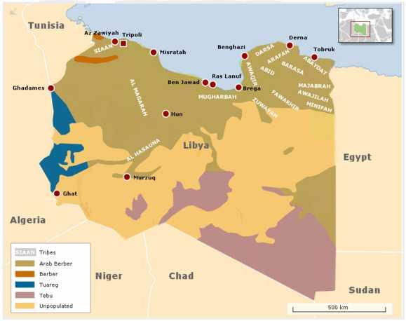 Libya tribes (Spiegel)