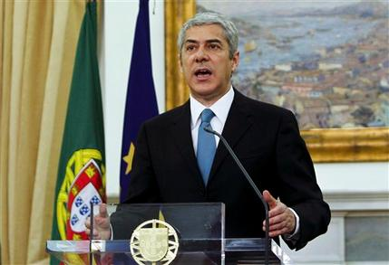 Portugal's prime minister Jos� S�crates on Wednesday