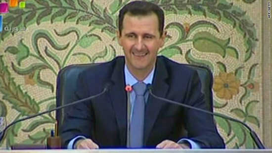 Bashar al-Assad in televised address to nation of Syria