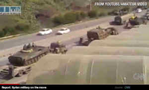 Syrian tanks and armored vehicles (CNN)
