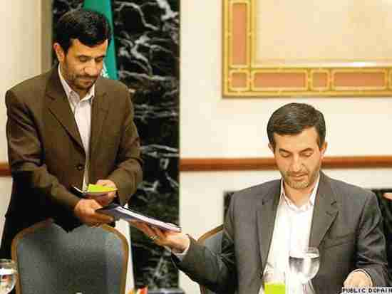 Mahmoud Ahmadinejad and his chief of staff, Esfandiar Rahim-Mashaei