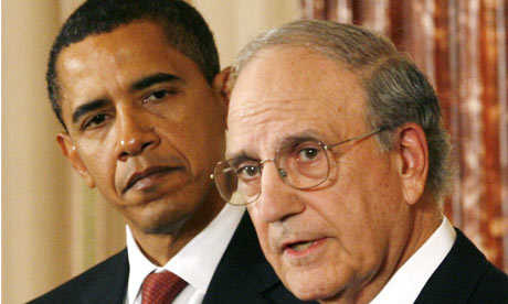 George Mitchell with President Obama