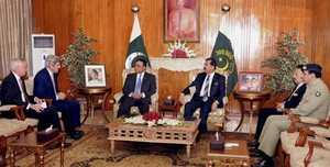 Senator John Kerry meets with Pakistan's President Asif Ali Zardari and other officials (AP)