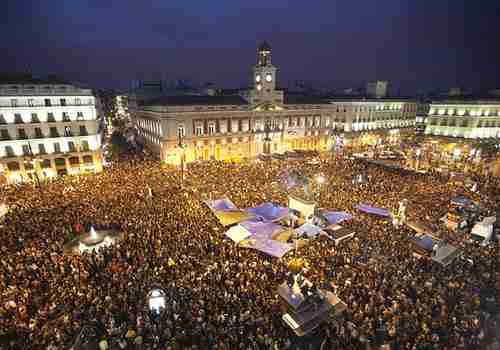Protests in Madrid's Puerta del Sol (MarketWatch)