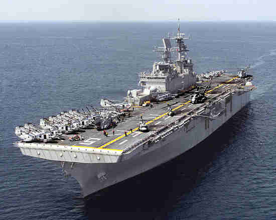 USS Bataan amphibian air carrier strike vessel