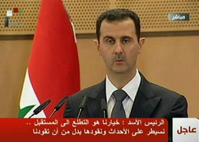Bashar al-Assad gives speech on Monday