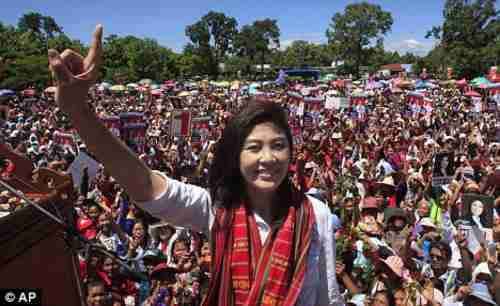 Yingluck Shinawatra, 44, is poised to become Thailand's first female PM (AP)