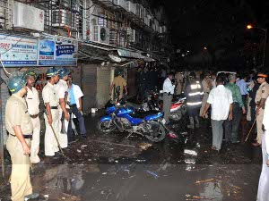 Police at Opera House bombing site in Mumbai