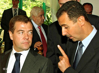 Photo of Assad scolding Russian president Medvedev