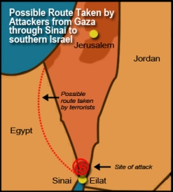 The Sinai is the easternmost region of Egypt, along the border with Israel