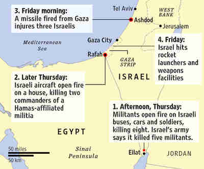 Violence escalates between Israel and Gaza (WSJ)