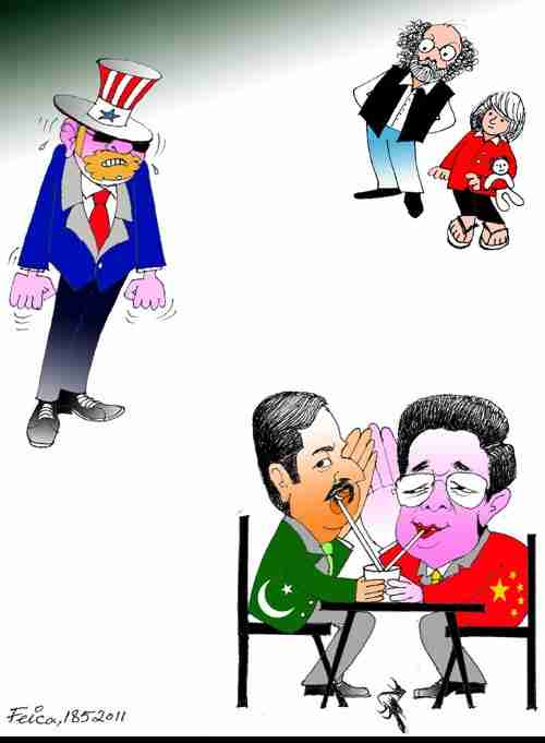 Uncle Sam Looking As Pakistani, Chinese Leaders Drink From The Same Glass (Dawn)