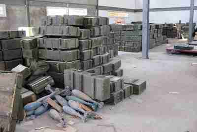 Large mortar shells sit in the open in unguarded weapons depots in Tripoli(AP)