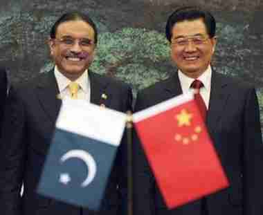 Pakistan's President Zardari and China's President Hu Jintao