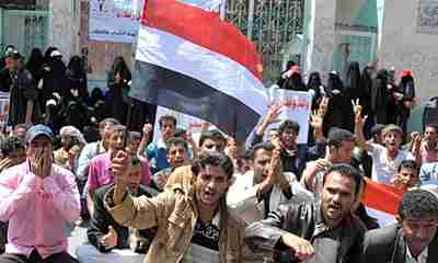 Anti-government protests in Yemen (EPA)