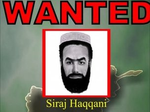 WANTED poster for Siraj Haqqani, another Haqqani network leader