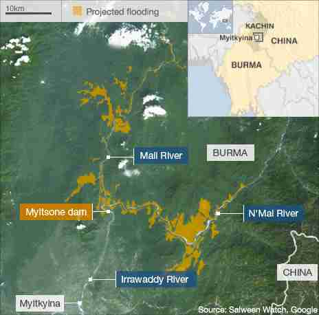 Burma - Myitsone dam