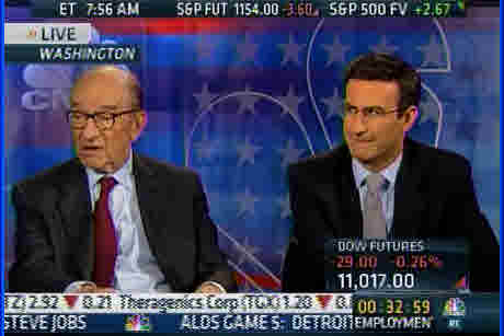Alan Greenspan and Peter Orszag on Friday morning (CNBC)