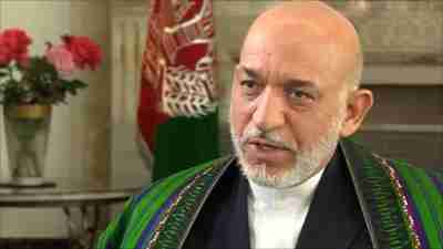 Hamid Karzai on Friday, speaking to the BBC