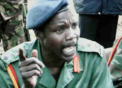 Joseph Kony, head of the Lord's Liberation Army (LRA)