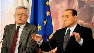 Italy's Finance Minister Giulio Tremonti, left, and Prime Minister Silvio Berlusconi (AFP)