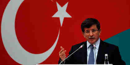 Ahmet Davutoglu on Friday (Reuters)