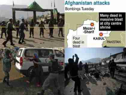 Twin blasts in Shia shrines in Kabul and Mazar-i-Sharif