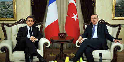 Sarkozy meets Erdogan earlier this year in Ankara (Reuters)