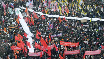 Huge Saturday rally in Moscow on Sakharov Avenue, named after Nobel Peace Prize-winning late Soviet dissident Andrei Sakharov (Ria Novosti)