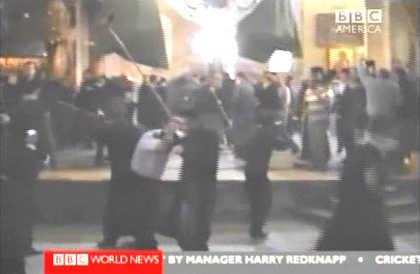 Broomstick brawl between rival clergymen in Bethlehem (BBC)
