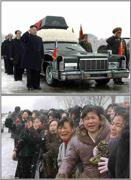 North Koreans weep and wail at the funeral of Kim Jong-il