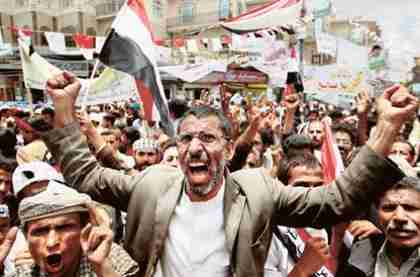 Anti-Saleh protesters in Sanaa, Yemen (Reuters)