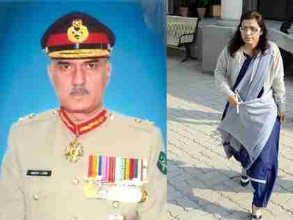 Left: Fired defense secretary Lodhi; Right: New defense secretary Nargis Sethi (Tribune)