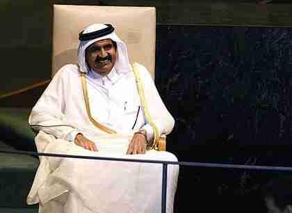 Qatar's emir, Sheikh Hamad bin Khalifa al-Thani