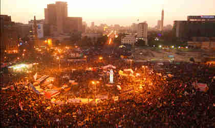 Cairo's Tahrir Square on Wednesday