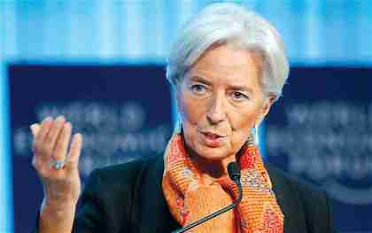 IMF chief Christine Lagarde on Saturday (AP)