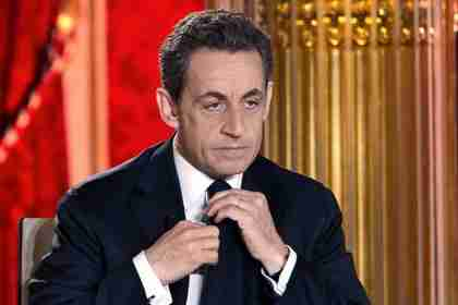 Nicolas Sarkozy preparing for his Sunday TV interview (AFP)