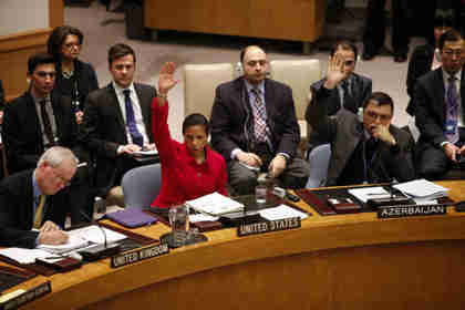 U.S. Ambassador Susan Rice in U.N. Security Council on Saturday (Reuters)