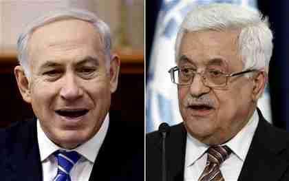 Benjamin Netanyahu and Mahmoud Abbas (EPA)