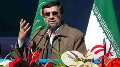 Ahmadinejad on television on Saturday (PressTv)
