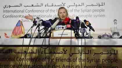 Hillary Clinton calls Russia and China 'despicable' at Friday press conference (AP)
