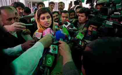 Pakistan's Foreign Minister Hina Rabbani Khar on Tuesday (AP)