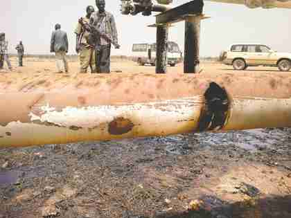 In early March, Sudan allegedly bombed a remote oil field at El Nar, nine miles from the jagged, contested border between Sudan and South Sudan, sending Chinese and other foreign oil workers scattering for their lives. (WaPost)
