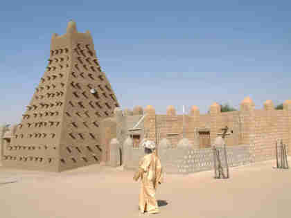 Historic mosque and museum in Timbuktu, Mali