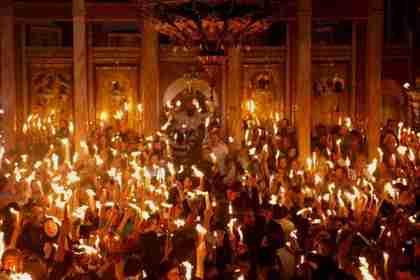 Holy Fire ceremony in Jerusalem