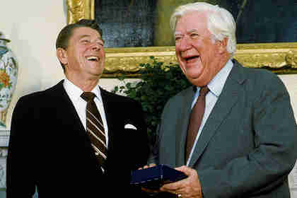 Ronald Reagan and Tip O'Neill in the 1980s