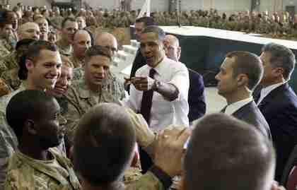 Barack Obama in Afghanistan on Wednesday