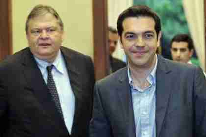 PASOK leader Evangelos Venizelos and Syriza leader Alexis Tsipras (Kathimerini)